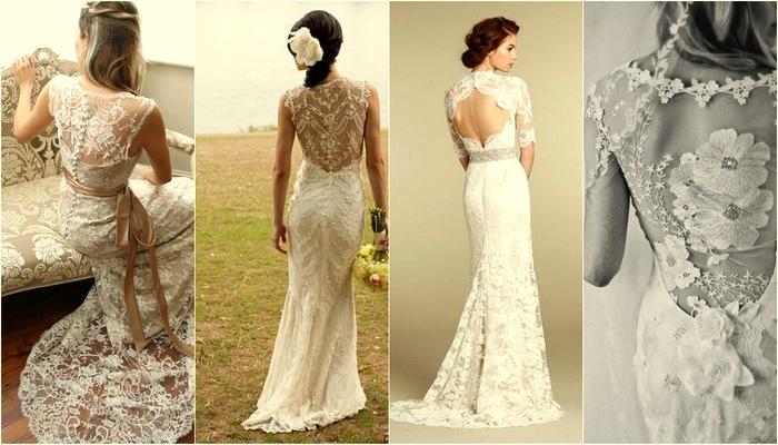15 Lace Back Wedding Dresses