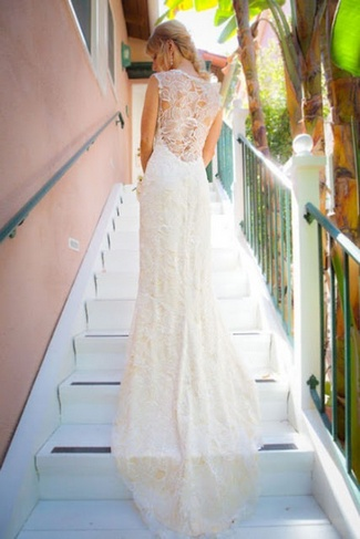 15 Lace Back Wedding Dresses Gowns