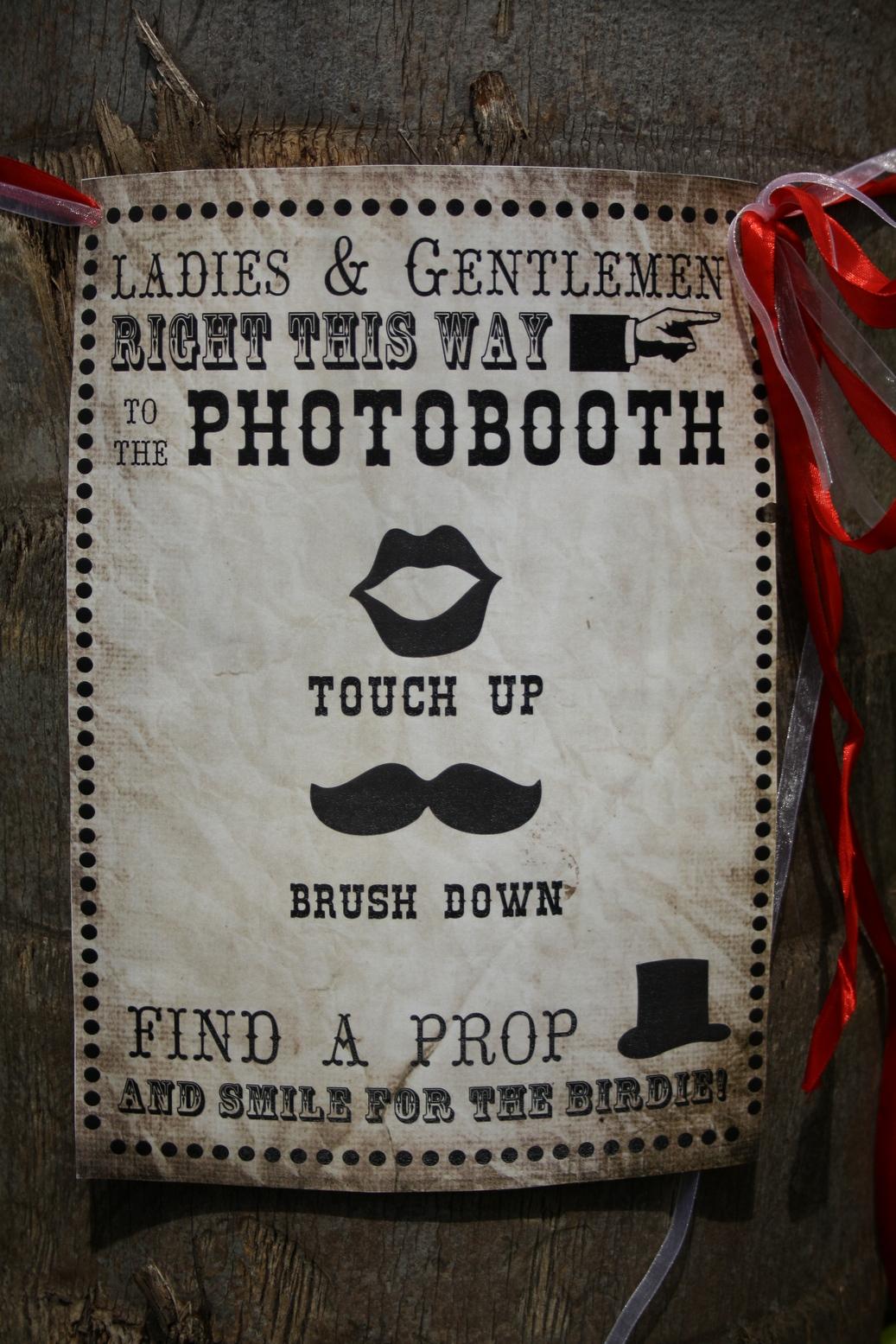 Photobooth Sign Printable