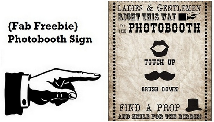 Free Photobooth Sign Printable {Vintage Carnival}