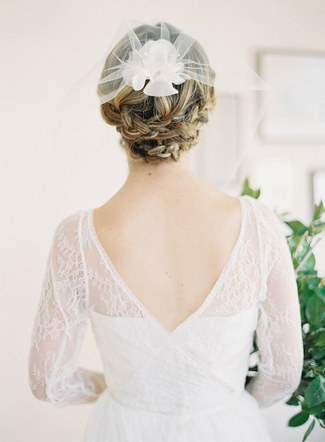 Check out these fashionable wedding updos for medium hair that are both fab and unfussy  halfup braids are bridal updos for medium hair that can be worn for any type of wedding You can opt for a simple barrette or comb or go dressier and secure braids back from your face with a glittery comb or barrette  Perfect for semiformal or