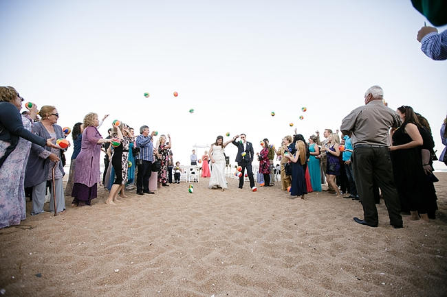 DIY Beach Wedding Beach ball toss 2