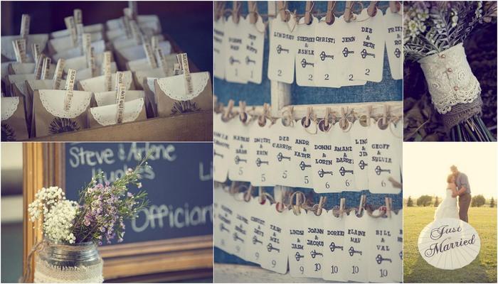 {Real Bride} Country Chic Burlap & Lace DIY Wedding
