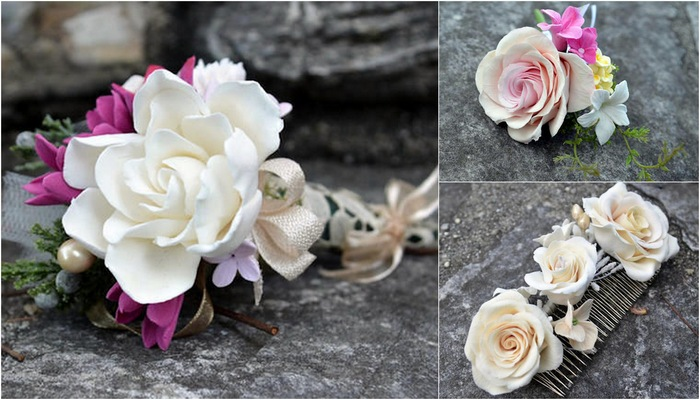 Heirloom Bouquets & Sculpted Floral Keepsakes {Bridal Accessories}
