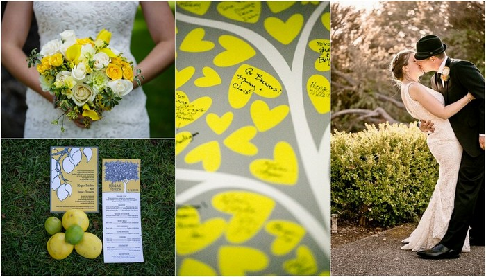 Lime Green & Yellow Handmade Wedding