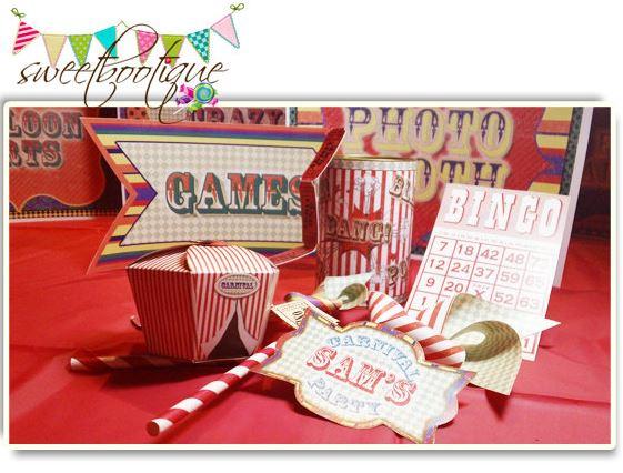 Vintage Wedding Carnival Printable Party Set