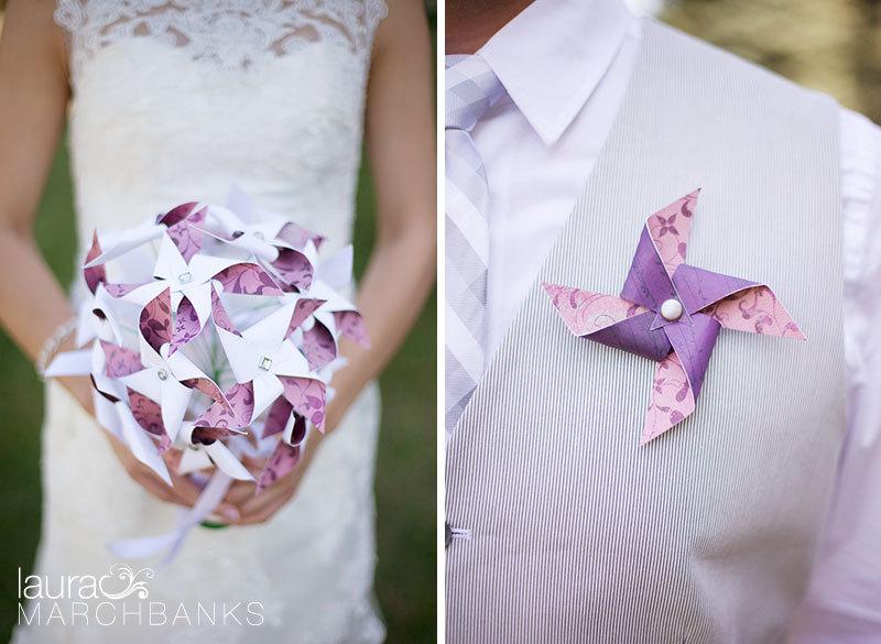 Wedding Carnival Pinwheel Bouquet