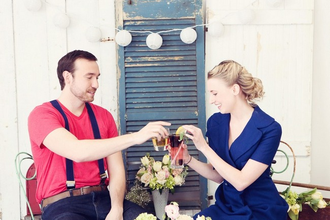 1950s Retro Engagement Shoot Candy Shop