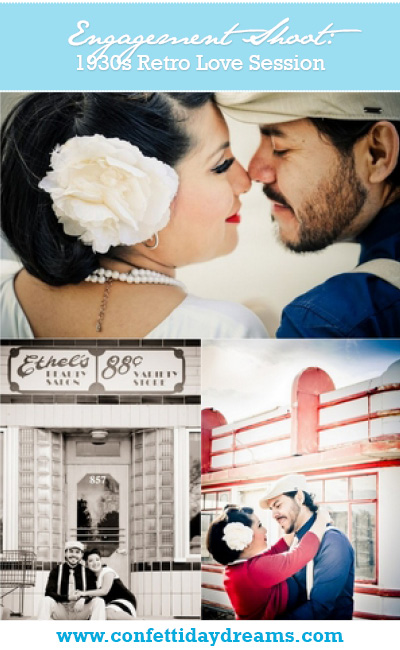{Engagement Shoot} 1930s Themed Retro Love in Colorado