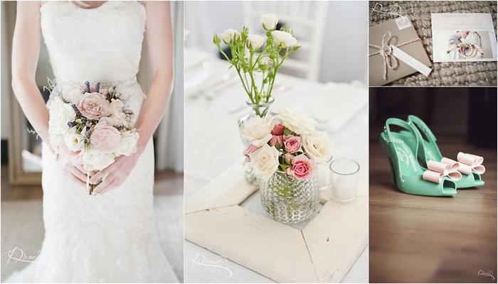 Romantic Peach & Pink Vintage MolenVliet Wedding