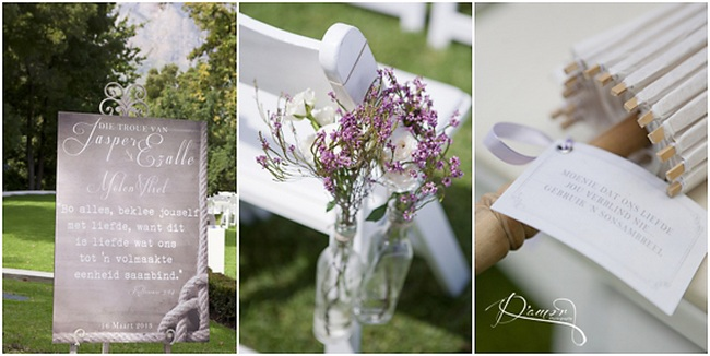 Romantic Peach and Mint Vintage Molenvliet Wedding