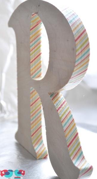 DIY Washi Tape Wooden Letter