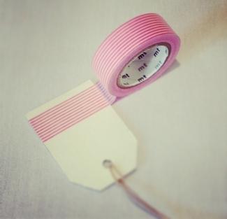 DIY Washi Tape Wedding Favor Tags