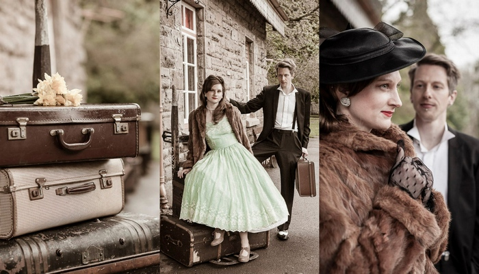 1940s Vintage Railway E Shoot Monmouthshire Uk