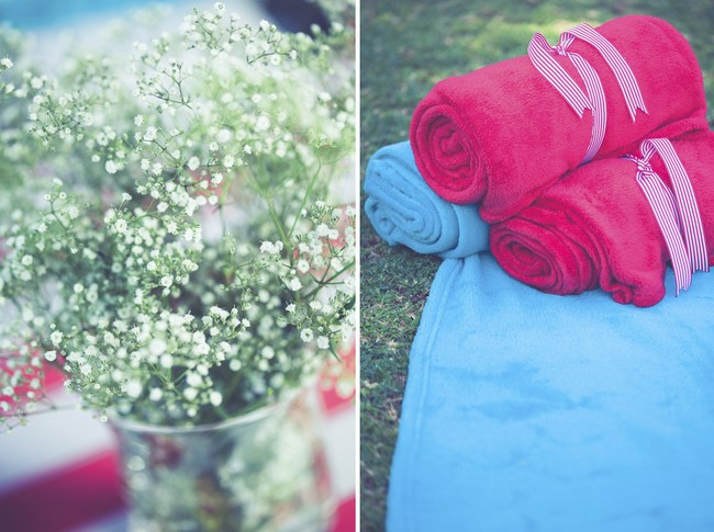 Red White & Aqua Carnival of Love {Real Wedding}