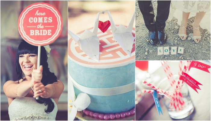 Red White & Aqua Carnival of Love {Real Bride}