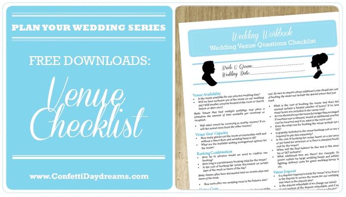 100 Question Wedding Venue Checklist