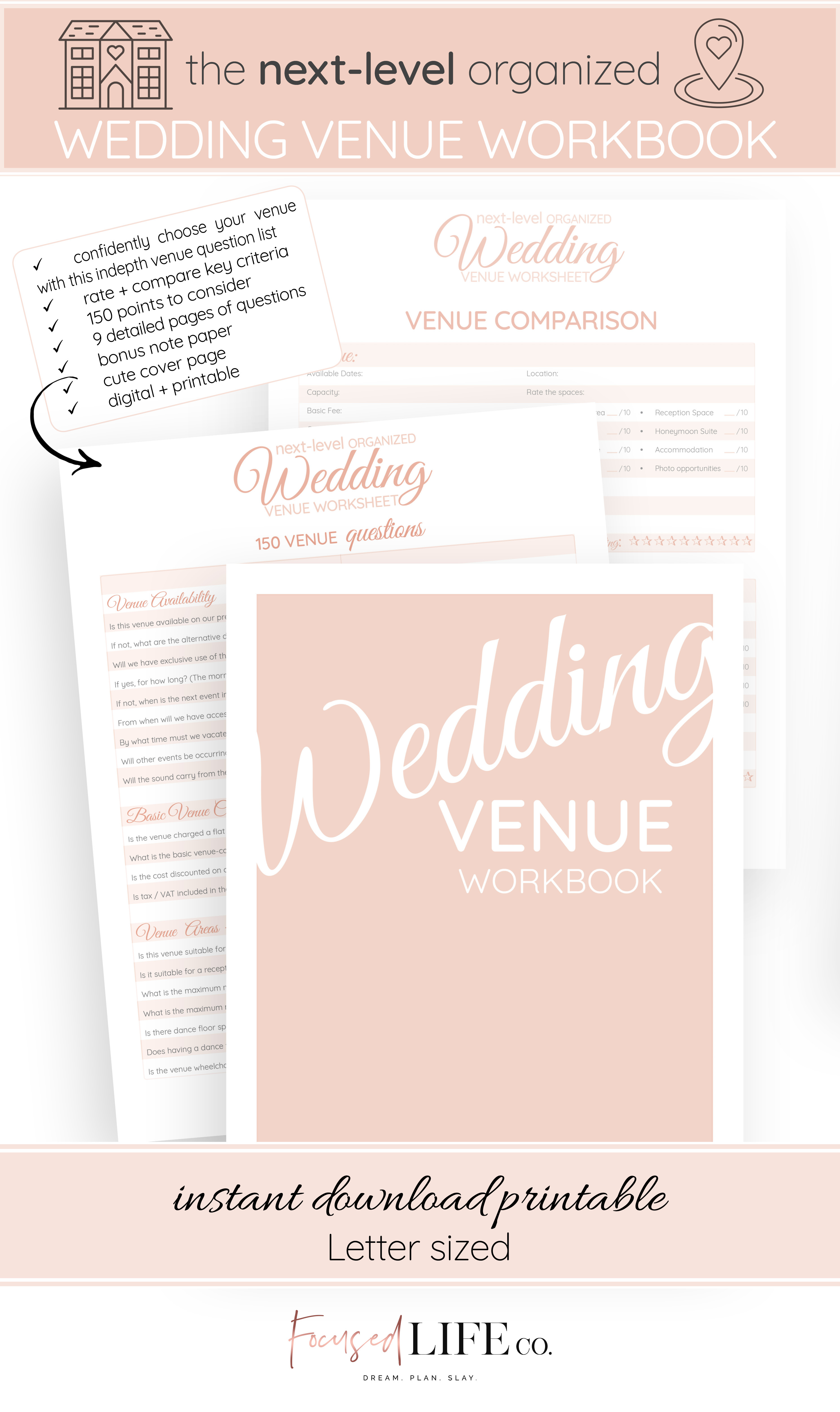 Epic 150 Question Wedding Venue Checklist {Ultimate Detailed