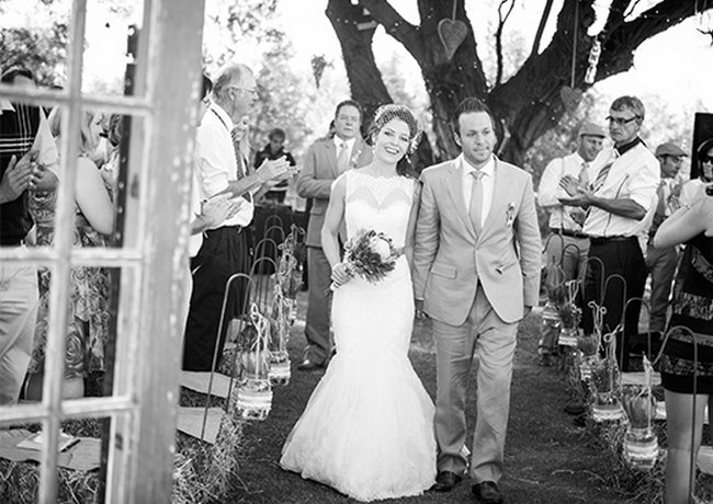 Windmills & Bunting Farm Wedding at Olive Grove