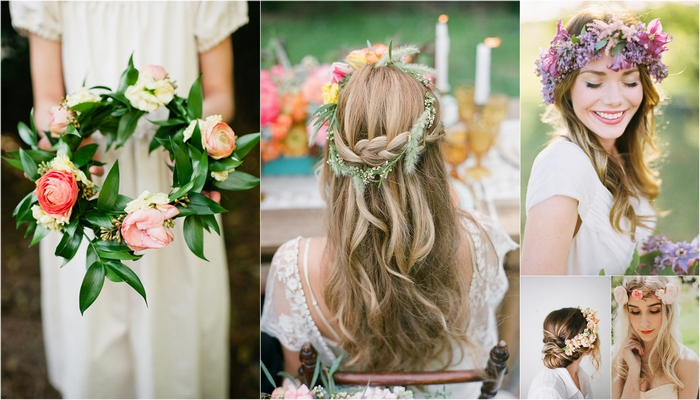 20 Floral Bridal Crowns & Flower Wreaths