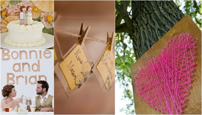 Cheerful DIY Outdoor Wisconsin Wedding