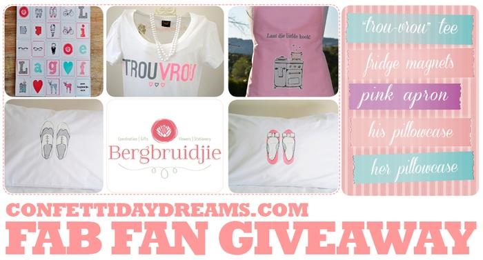 Bergbruidjie & ConfettiDaydreams Fan Give-Away