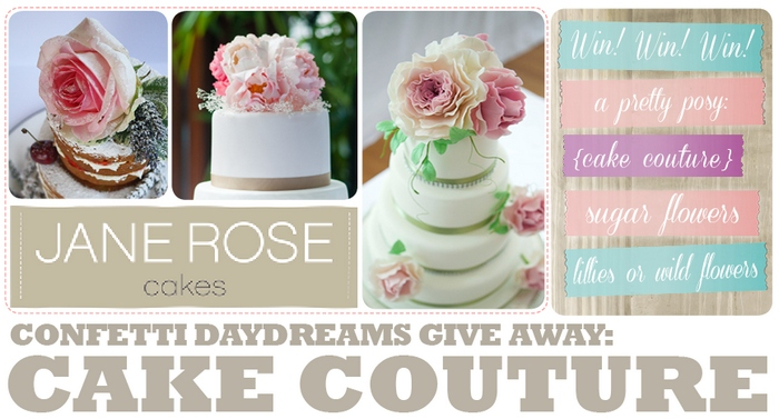 Win with Jane Rose Cake Couture {UK Give-Away}