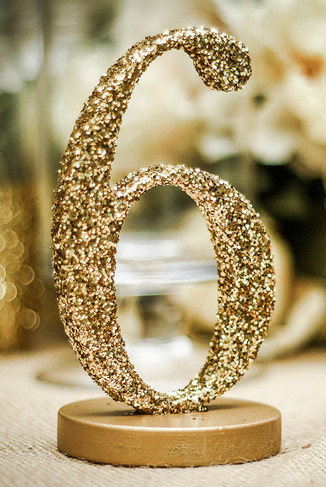Glitter Table Number