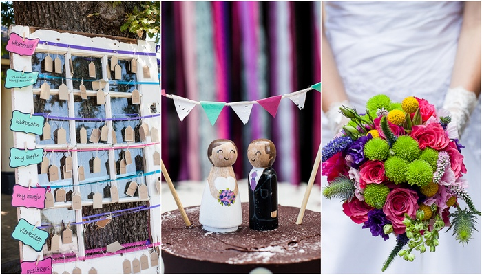 Outdoor Celebration of Love & Colour {Winelands Wedding}
