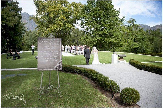 Wedding Ceremony at Molenvliet Wine Estate