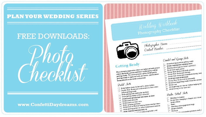 picture relating to Wedding Photography Checklist Printable called Marriage ceremony Images List Totally free Printable