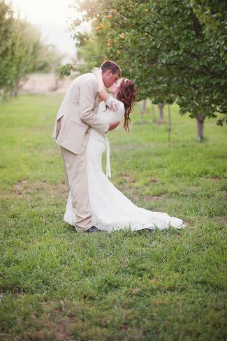 Green and Yellow Rustic Garden Wedding