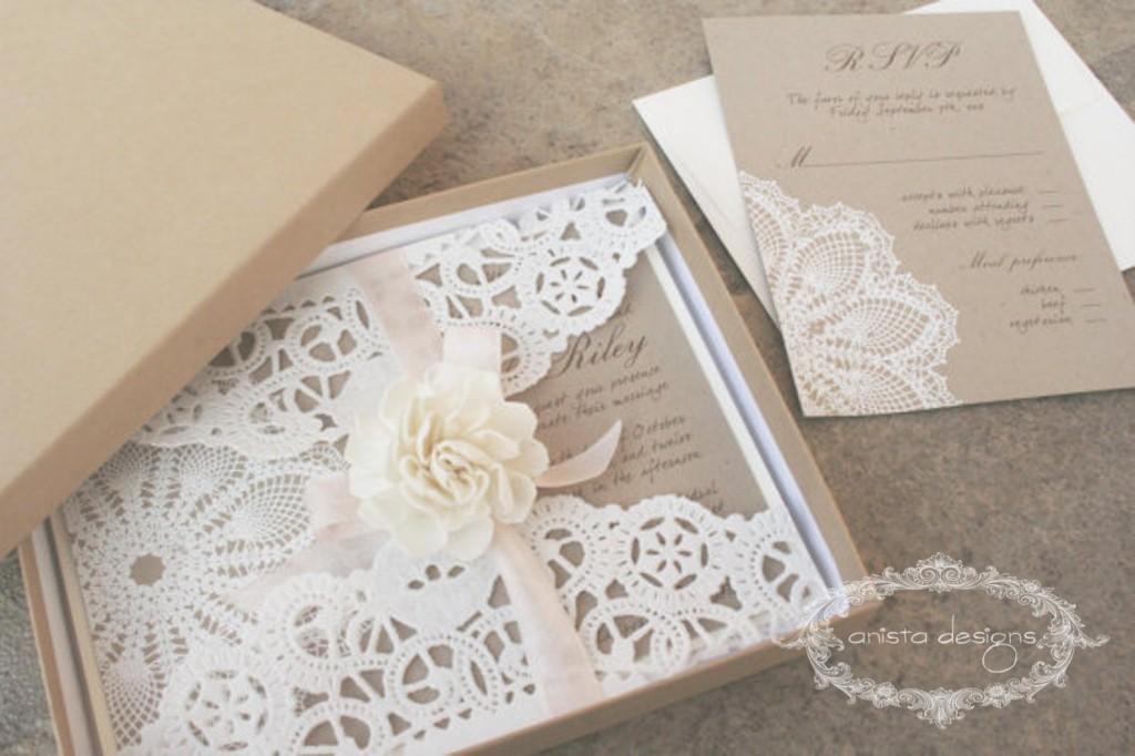 rustic wedding invitation - Anista designs