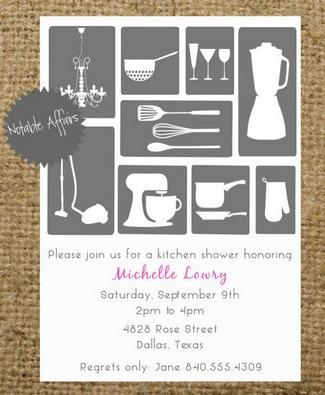 Kitchen Shower Invitation Ideas