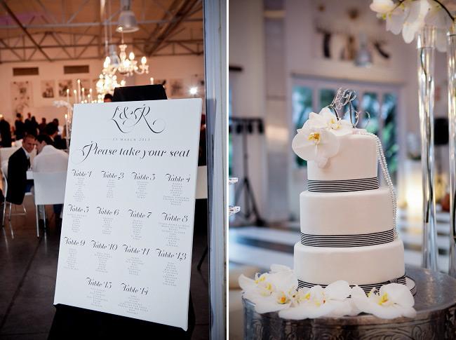 Elegant Black & White Allée Bleue Wedding, South Africa