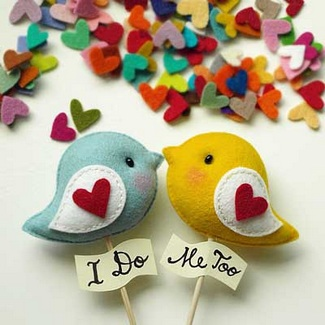 Love Bird Wedding Cupcake Toppers | Gifts Define