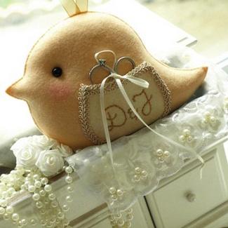 Love Bird Wedding Ring Bearer Pillow