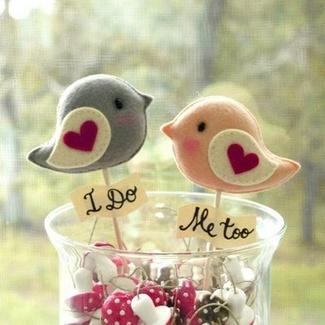 Love Bird Wedding Decor & Cake Toppers   Gifts Define