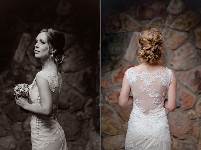 Pink and Ivory Vintage Wedding Look