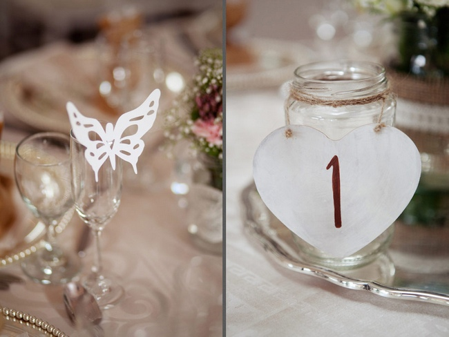 Pink and Ivory Vintage Wedding