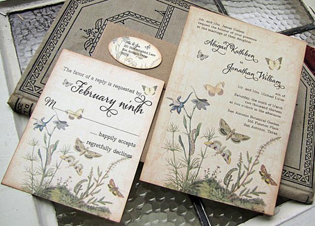 Fantastic 21 Fabulous Vintage Wedding Invitations VL89