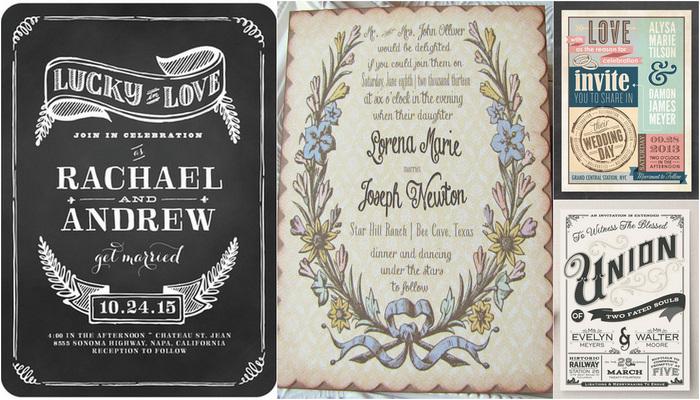 21 Vintage Wedding Invitations {Trendy Tuesday}