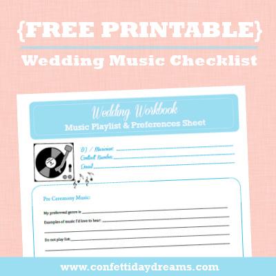 Wedding Music Checklist