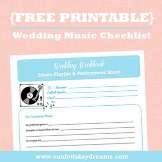 Wedding Music Workbook & Checklist