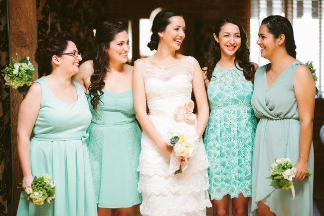 Mint & Coral Vintage Summer Wedding, Los Angeles