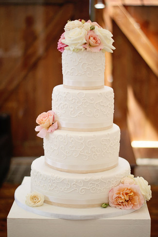 Tasty Lacy Wedding Cake by Vanilla House