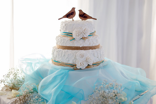 Turquoise & White Country Love Wedding, East London