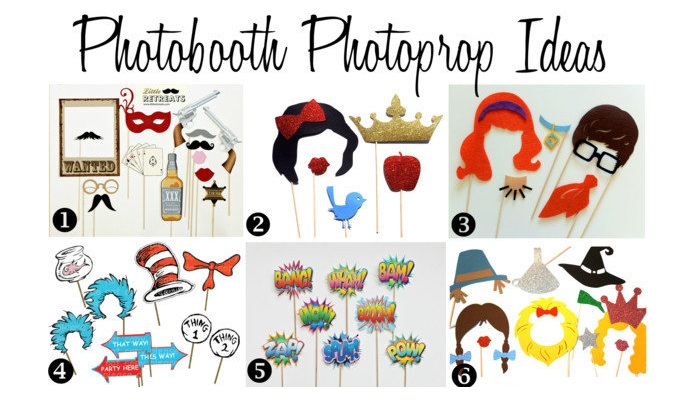 Unique Photobooth Photoprop Ideas