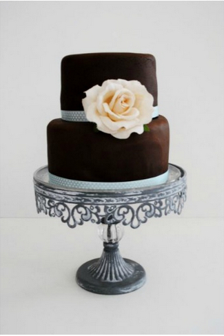 Vintage Chocolate Dream Wedding Cake by Le Petit Four