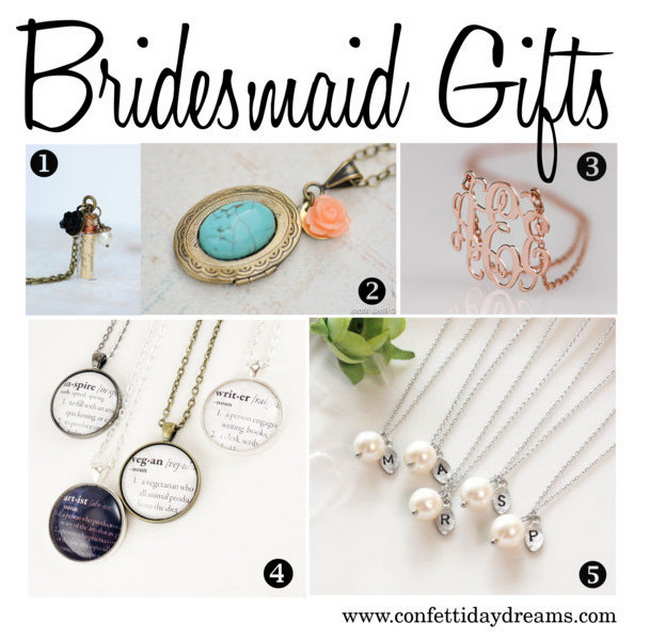 Bridesmaid Gifts {Trendy Tuesday}